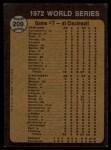 1973 Topps #209   -  Bert Campaneris 1972 World Series - Game #7 - Campy Starts Winning Rally Back Thumbnail