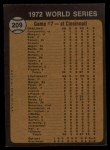1973 Topps #209   -  Bert Campaneris 1972 World Series - Game #7 - Campy Starts Winning Rally Back Thumbnail