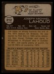 1973 Topps #212  Joe Lahoud  Back Thumbnail
