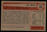 1954 Bowman #181  Les Moss  Back Thumbnail