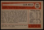 1954 Bowman #22 OF Sam Mele  Back Thumbnail
