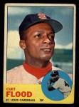 1963 Topps #505  Curt Flood  Front Thumbnail
