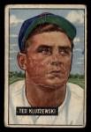 1951 Bowman #143  Ted Kluszewski  Front Thumbnail