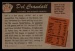 1955 Bowman #217  Del Crandall  Back Thumbnail