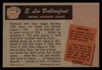 1955 Bowman #295  E.L. Ballanfant  Back Thumbnail