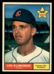 1961 Topps #462  Lou Klimchock  Front Thumbnail