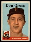 1958 Topps #172  Don Gross  Front Thumbnail