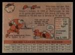 1958 Topps #156  Dick Hyde  Back Thumbnail