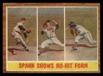 1962 Topps #312   -  Warren Spahn Shows No-Hit Form Front Thumbnail