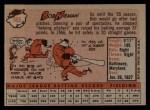 1958 Topps #165  Bob Nieman  Back Thumbnail