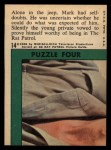 1966 Topps Rat Patrol #14   Alone in the Jeep Mark Had Self-Doubts Back Thumbnail