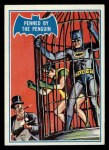 1966 Topps Batman Blue Bat Puzzle Back #16 PUZ  Penned by the Penguin Front Thumbnail