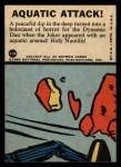1966 Topps Batman Blue Bat Puzzle Back #41 PUZ  Aquatic Attack! Back Thumbnail
