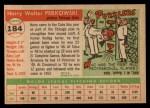 1955 Topps #184  Harry Perkowski  Back Thumbnail