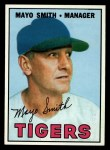 1967 Topps #321  Mayo Smith  Front Thumbnail
