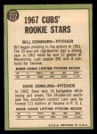 1967 Topps #272   -  Bill Connors / Dave Dowling Cubs Rookies Back Thumbnail