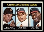 1967 Topps #240   -  Felipe Alou / Matty Alou / Rico Carty NL Batting Leaders Front Thumbnail