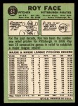 1967 Topps #49 ^COR^ Roy Face  Back Thumbnail