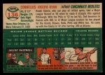 1954 Topps #136  Connie Ryan  Back Thumbnail