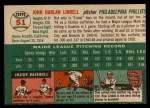1954 Topps #51  Johnny Lindell  Back Thumbnail