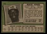 1971 Topps #142  Mack Jones  Back Thumbnail