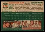 1954 Topps #178  Bill Glynn  Back Thumbnail