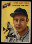 1954 Topps #180  Wes Westrum  Front Thumbnail