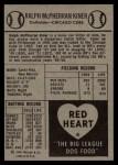 1954 Red Heart  Ralph Kiner  Back Thumbnail