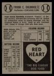 1954 Red Heart  Frank Baumholtz    Back Thumbnail