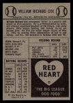 1954 Red Heart #4  Billy Cox     Back Thumbnail