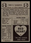 1954 Red Heart #28  Enos Slaughter  Back Thumbnail
