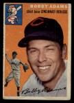 1954 Topps #123  Bobby Adams  Front Thumbnail