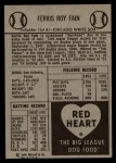 1954 Red Heart #7  Ferris Fain     Back Thumbnail