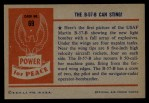 1954 Bowman Power for Peace #69   The B-57 Can Sting! Back Thumbnail