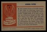 1954 Bowman Power for Peace #1   Iceberg Patrol Back Thumbnail