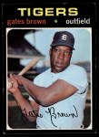 1971 Topps #503  Gates Brown  Front Thumbnail