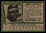 1971 Topps #249  Chico Salmon  Back Thumbnail