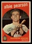 1959 Topps #4  Albie Pearson  Front Thumbnail