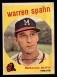 1959 Topps #40 ^B^ Warren Spahn  Front Thumbnail