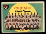 1959 Topps #304   Cubs Team Checklist Front Thumbnail