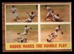 1962 Topps #311   -  Tony Kubek  Kubek Makes the Double Play Front Thumbnail