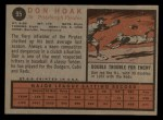 1962 Topps #95  Don Hoak  Back Thumbnail