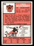 1966 Topps #104  Fred Bilentnikoff  Back Thumbnail