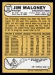 1968 Topps #425  Jim Maloney  Back Thumbnail