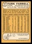 1968 Topps #217  Turk Farrell  Back Thumbnail