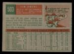 1959 Topps #503  Jim Owens  Back Thumbnail
