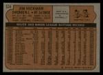 1972 Topps #534  Jim Hickman  Back Thumbnail
