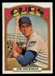 1972 Topps #534  Jim Hickman  Front Thumbnail
