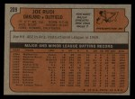 1972 Topps #209  Joe Rudi  Back Thumbnail