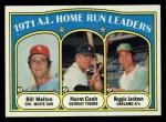 1972 Topps #90   -  Norm Cash / Reggie Jackson / Bill Melton AL HR Leaders   Front Thumbnail